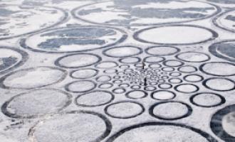Další záhada – kruhy v ledu