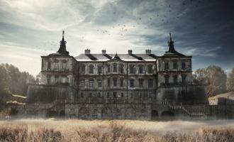 Strašidelný hrad na Ukrajině v Pidhirtsi