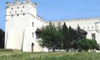 Opevněný zámek se tyčí nad Litavou