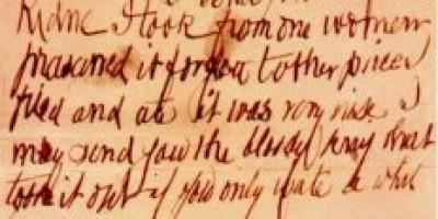 Dopis z pekla! Poslal ho slavný Jack Rozparovač ?
