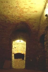 výklenek - bývalé lokajské schodiště